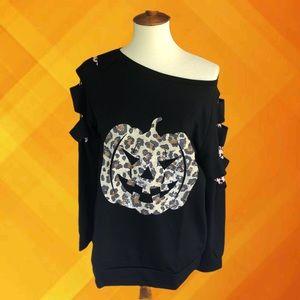 Leopard Pint Pumpkin Sweatshirt